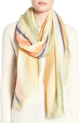 Nordstrom Women's Artist Ombre Cashmere And Silk Scarf Yellow Combo
