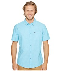 Hurley One Only S S Woven Shirt Chlorine Blue Men's Short Sleeve Button Up