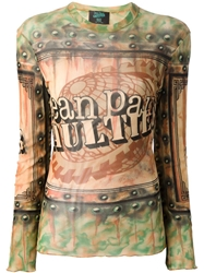 Jean Paul Gaultier Vintage Tattoo Print Top Multicolour