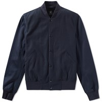 Paul Smith Italian Jersey Varsity Jacket Blue