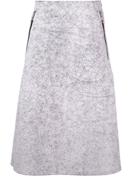 Jean Pierre Braganza Jean Pierre Braganza 'Auxins' Crackle Skirt White