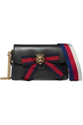 Gucci Broadway Embellished Leather Shoulder Bag Black