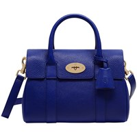 Mulberry Small Bayswater Leather Satchel Bag Neon Blue