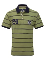 Tog 24 Comet Stripe Short Sleeve Polo Shirt Khaki