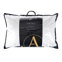 A By Amara European Goose Down Surround Pillow Medium Firm