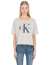 Calvin Klein Jeans True Icon Cropped Cotton Jersey T Shirt