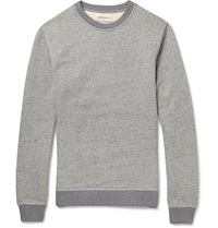 Oliver Spencer Marled Cotton Blend Sweatshirt Gray