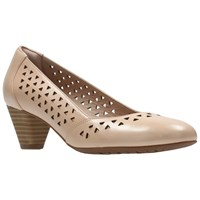 Clarks Denny Dallas Cut Out Court Shoes Nude