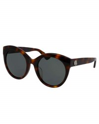 Gucci Monochromatic Oversized Rounded Cat Eye Sunglasses Tortoise Brown Pattern