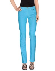 Jeckerson Denim Denim Trousers Women Turquoise