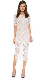 For Love And Lemons Luna Maxi Dress White