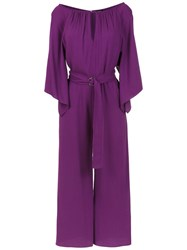 Tufi Duek Cropped Jumpsuit Purple