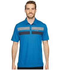 Travis Mathew Don't Mind It Polo French Blue Blue Nights Men's Short Sleeve Knit