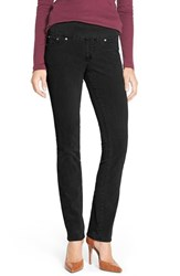 Petite Women's Jag Jeans 'Peri' Pull On Stretch Corduroy Pants Black Orchid