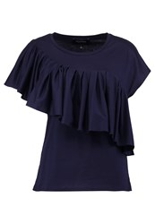 Banana Republic Print Tshirt Navy Dark Blue