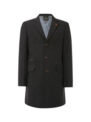 White Stuff Men's Barva Grey Overcoat Grey