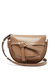 Loewe Gate Small Leather Cross Body Bag Beige