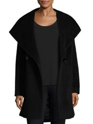 Trina Turk Grace Wrap Coat Wine Black
