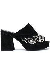 Mcq By Alexander Mcqueen Studded Suede Mules Black