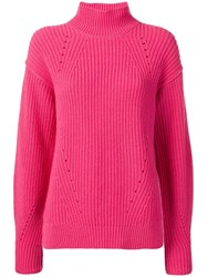 Cruciani Turtleneck Jumper Pink And Purple