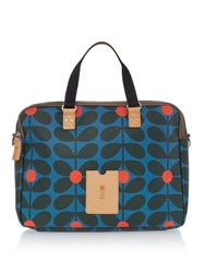 Orla Kiely Sixties Stem Work Bag Blue