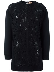 N 21 No21 Macrame Panel Blouse Black
