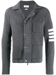 Thom Browne 4 Bar Stripe Cardigan Stitch Zip Up Jacket 60