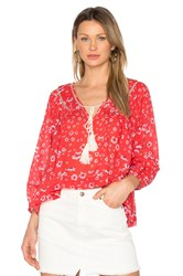 Free People Never A Dull Moment Blouse Red
