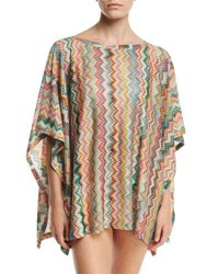 Missoni Mare Zigzag Short Tunic Coverup Multicolor