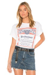 Junk Food Budweiser Label Tee White
