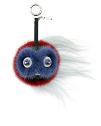 Fendi Monster Fur Key Chain For Handbag Coral