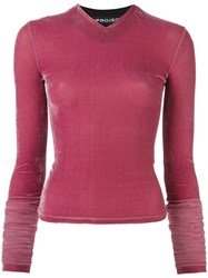 Y Project 'Extreme' Velvet Top Pink Purple
