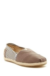 Toms Woven Midsole Stripe Detail Classic Slip On Shoe Brown