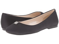 Caparros Windfall Black Satin Women's Flat Shoes