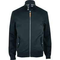 River Island Mens Navy Funnel Neck Harrington Jacket