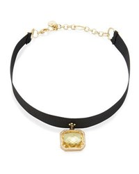 Nakamol Asscher Cut Crystal Choker Necklace Yellow