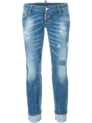 Dsquared2 'Sexy Twist Flared Rolled Up' Jeans Blue