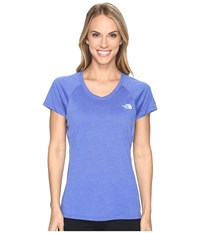 The North Face Initiative Short Sleeve Shirt Amparo Blue Heather Women's Short Sleeve Pullover