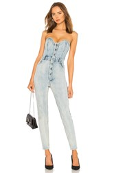 Marissa Webb Gentry Jumpsuit Acid Washed Indigo