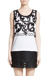 Dolce And Gabbana Women's True Copy Bow Detail Tank
