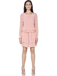 See By Chloe Embroidered Silk Crepe De Chine Dress