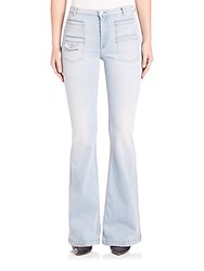 7 For All Mankind Georgia Light Wash Vintage Flare Jeans Daylight Blue