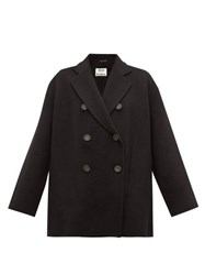Acne Studios Odine Double Breasted Wool Peacoat Black