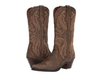 Ariat Heritage Western X Toe Vintage Bomber Cowboy Boots Brown