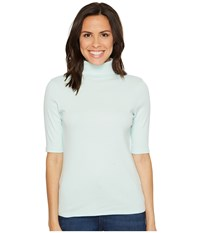 Lilla P Elbow Sleeve Turtleneck Ice Women's Clothing White