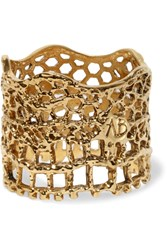 Aurelie Bidermann Lace Gold Plated Ring 54