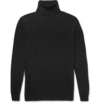 Tom Ford Fine Knit Cashmere And Silk Blend Rollneck Sweater Gray