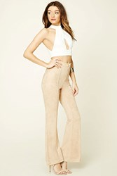 Forever 21 Faux Suede Flared Pants