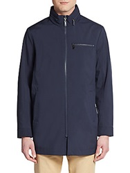 Kenneth Cole Reaction Long Zip Front Jacket Ink