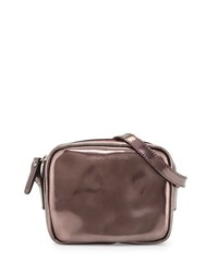 Brunello Cucinelli Laminated Leather Shoulder Bag Brick